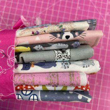 DESTASH Cute Creatures Stash Starter Bundle Cotton Fabric Stash Stack  (Bubbles Tie)
