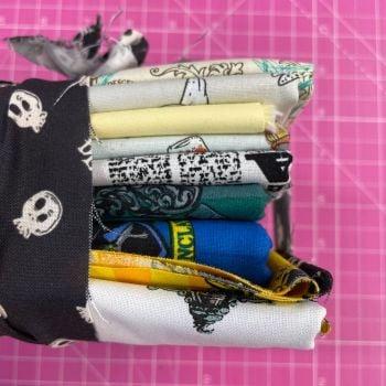 DESTASH Harry Potter Stash Starter Bundle Cotton Fabric Stash Stack  (Skull Tie)
