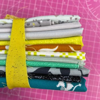 DESTASH Dino Stash Starter Bundle Cotton Fabric Stash Stack  (Yellow Tie)