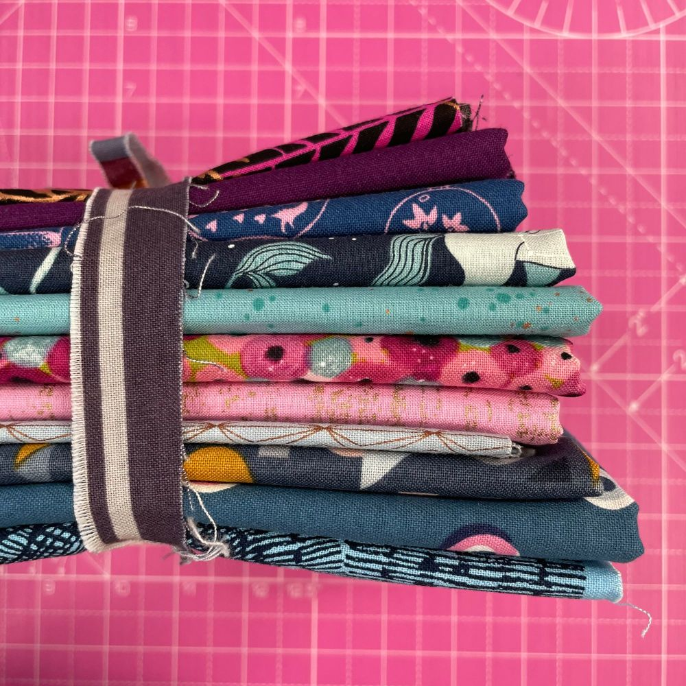 DESTASH Mystical Stash Starter Bundle Cotton Fabric Stash Stack  (Celebrate