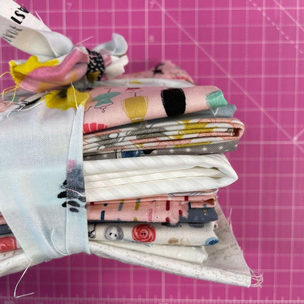 DESTASH Stitchers Stash Starter Bundle Cotton Fabric Stash Stack  (Girls Cl
