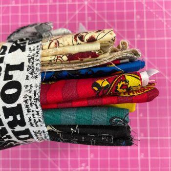 DESTASH Harry Potter Stash Starter Bundle Cotton Fabric Stash Stack  (Newsprint Tie)