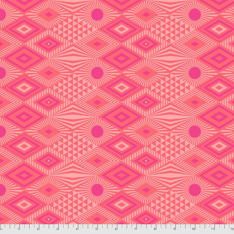 PRE-ORDER Tula Pink Daydreamer Lucy Dragonfruit Cotton Fabric
