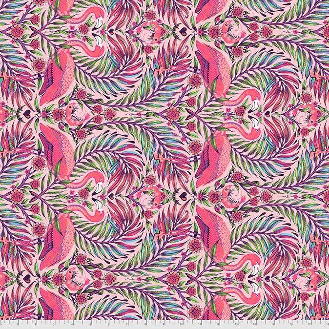 PRE-ORDER Tula Pink Daydreamer Pretty in Pink Flamingo Dragonfruit Cotton F
