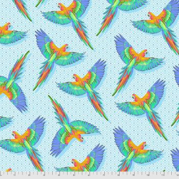 PRE-ORDER Tula Pink Daydreamer Macaw Ya Later Cloud Cotton Fabric