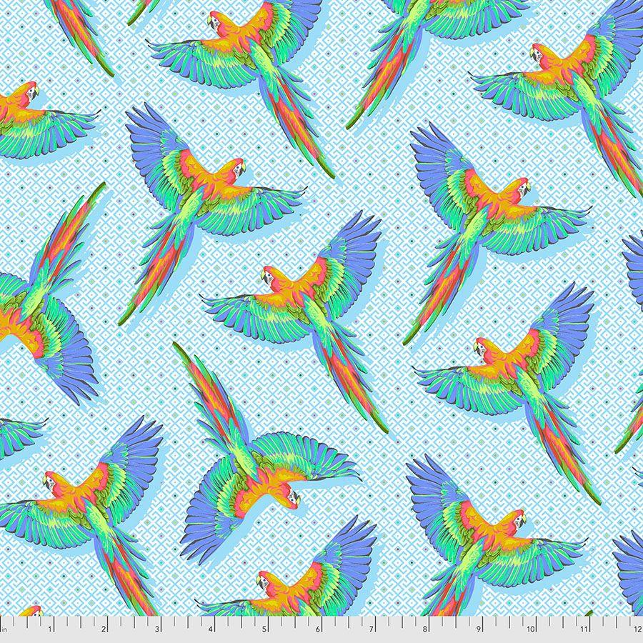 PRE-ORDER Tula Pink Daydreamer Macaw Ya Later Cloud Cotton Fabric