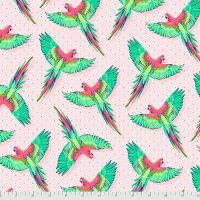 PRE-ORDER Tula Pink Daydreamer Macaw Ya Later Dragonfruit Cotton Fabric