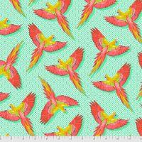 PRE-ORDER Tula Pink Daydreamer Macaw Ya Later Mango Cotton Fabric