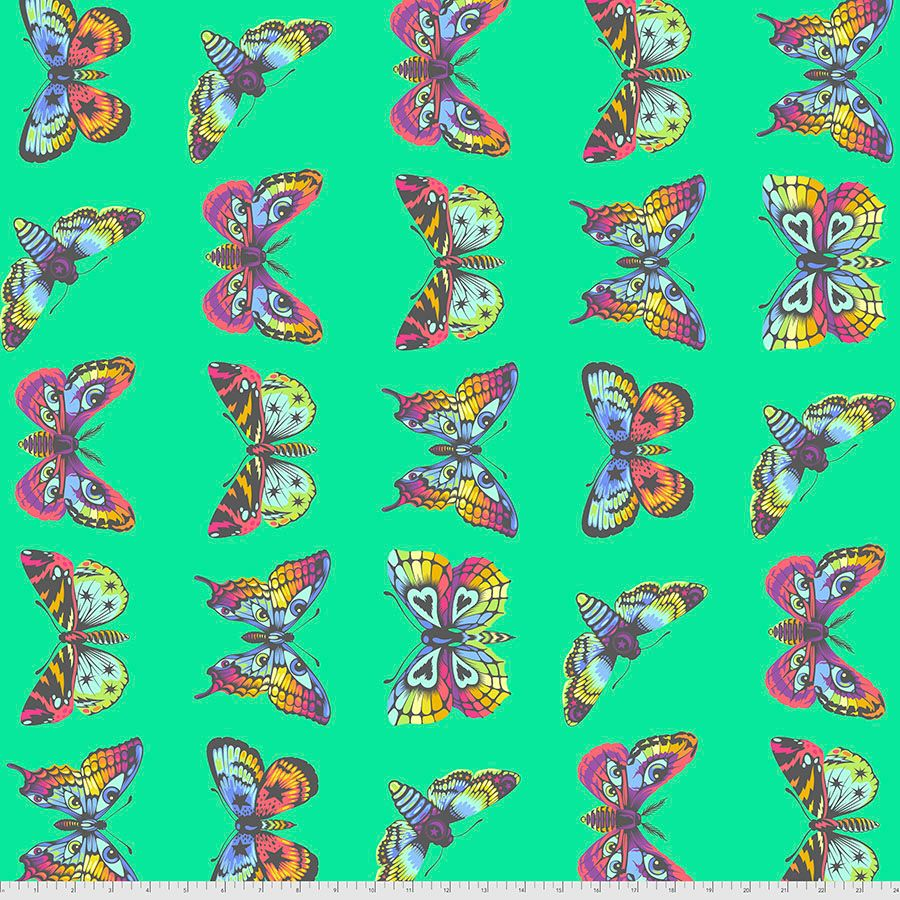 PRE-ORDER Tula Pink Daydreamer Butterfly Hugs Lagoon Cotton Fabric