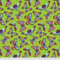 PRE-ORDER Tula Pink Daydreamer Butterfly Kisses Avocado Cotton Fabric
