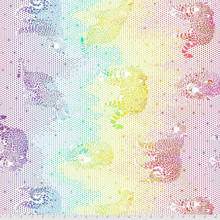 PRE-ORDER Tula Pink Daydreamer Mick Jaguar Passionfruit Cotton Fabric