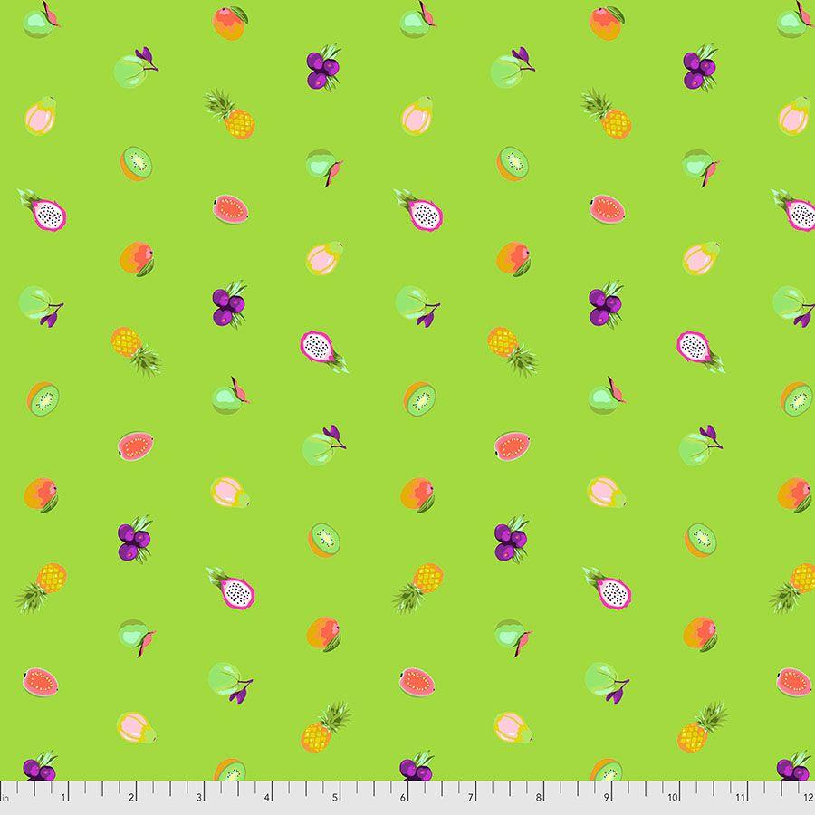 PRE-ORDER Tula Pink Daydreamer Forbidden Fruit Snacks Kiwi Cotton Fabric