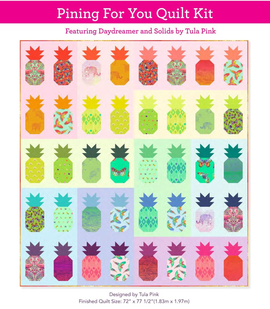 PRE-ORDER Tula Pink Daydreamer Pining For You Quilt Kit by FreeSpirit Fabri