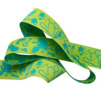 Tula Pink Curiouser and Curiouser Down the Rabbit Hole Green Renaissance Ribbons per yard