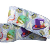 Tula Pink Curiouser and Curiouser Madhatter Purple Wide Renaissance Ribbons per yard