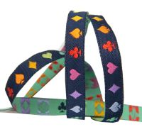 Tula Pink Curiouser and Curiouser Suited and Booted Navy Renaissance Ribbons per yard