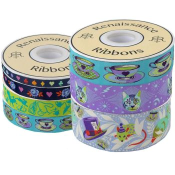 PRE-ORDER Tula Pink Curiouser and Curiouser Daydream 7 Yard Bundle Renaissance Ribbons