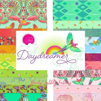 PRE-ORDER Tula Pink Daydreamer Tula Pink Charm Pack 42 Precut 5 inch Squares Cotton Fabric Stack