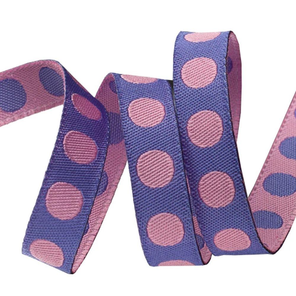 Tula Pink Pom Pom Poppy Spots Ribbon by Renaissance Ribbons per yard