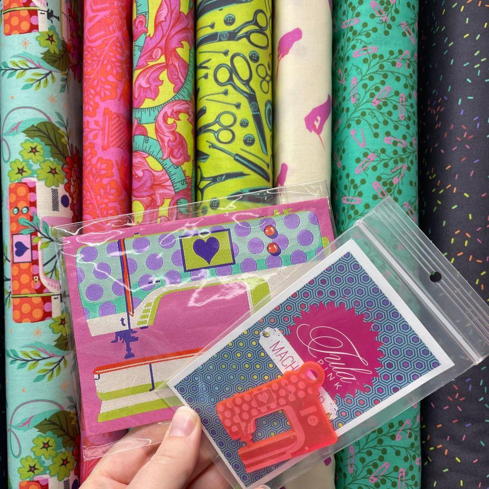 Tula Pink Mystery Stash Starter Bundle HomeMade MORNING Cotton Fabric & Rib
