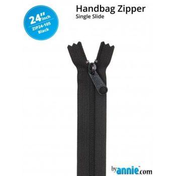 "By Annie 24"" Handbag Zipper Single Slide Black Zip"