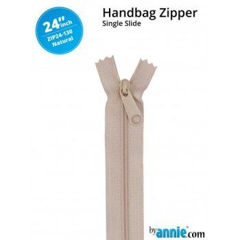"By Annie 24"" Handbag Zipper Single Slide Natural Zip"