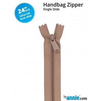 "By Annie 24"" Handbag Zipper Single Slide Rockslide Zip"