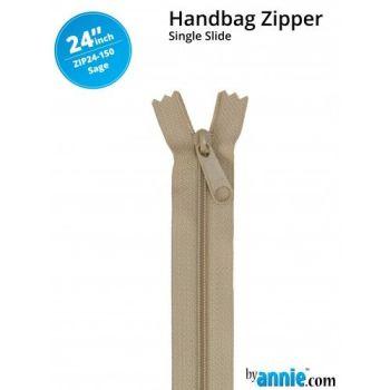 """By Annie 24"""" Handbag Zipper Single Slide Sage Zip"""