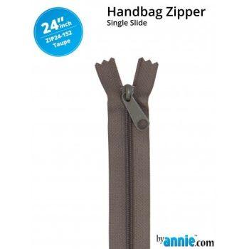"By Annie 24"" Handbag Zipper Single Slide Taupe Zip"
