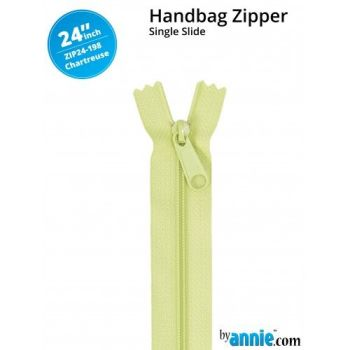 "By Annie 24"" Handbag Zipper Single Slide Chartreuse Zip"