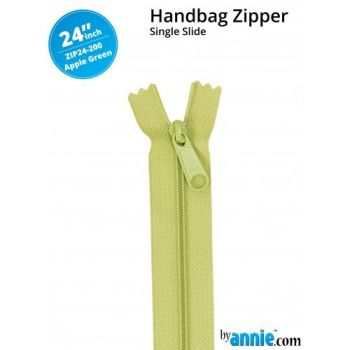 "By Annie 24"" Handbag Zipper Single Slide Apple Green Zip"