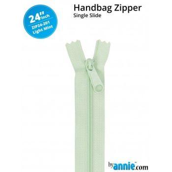 """By Annie 24"""" Handbag Zipper Single Slide Light Mint Zip"""