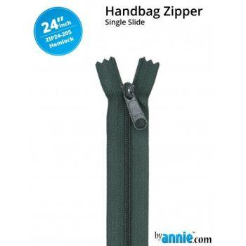 "By Annie 24"" Handbag Zipper Single Slide Hemlock Zip"