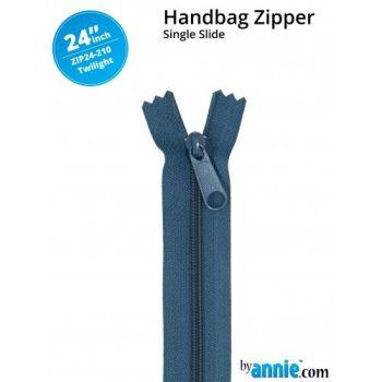 "By Annie 24"" Handbag Zipper Single Slide Twilight Zip"