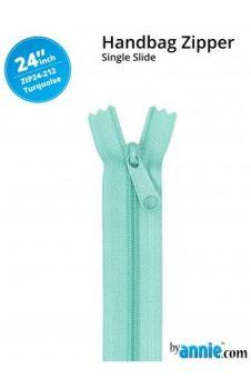 "By Annie 24"" Handbag Zipper Single Slide Turquoise Zip"