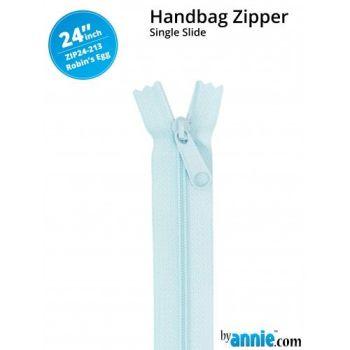"By Annie 24"" Handbag Zipper Single Slide Robins Egg Zip"