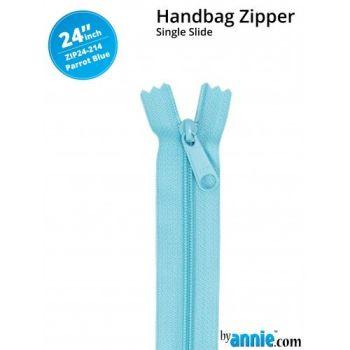 "By Annie 24"" Handbag Zipper Single Slide Parrot Blue Zip"
