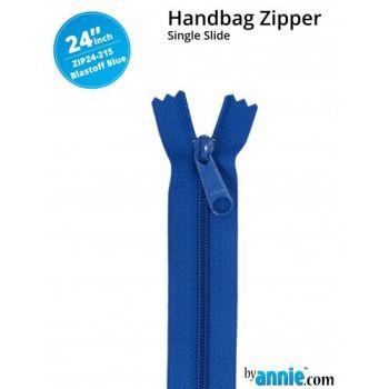 "By Annie 24"" Handbag Zipper Single Slide Blastoff Blue Zip"