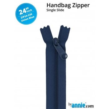 "By Annie 24"" Handbag Zipper Single Slide Union Blue Zip"
