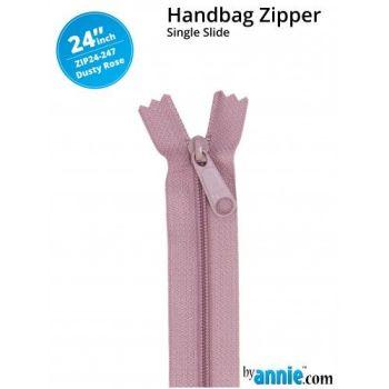 "By Annie 24"" Handbag Zipper Single Slide Dusty Rose Zip"