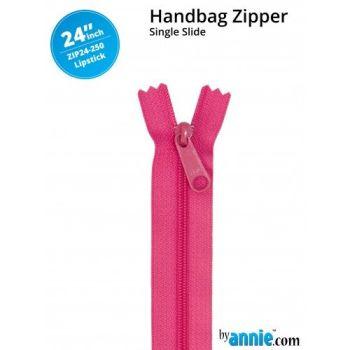 "By Annie 24"" Handbag Zipper Single Slide Lipstick Zip"