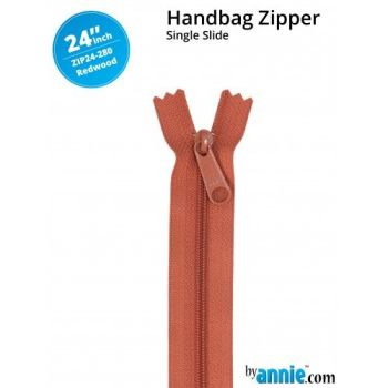 "By Annie 24"" Handbag Zipper Single Slide Redwood Zip"