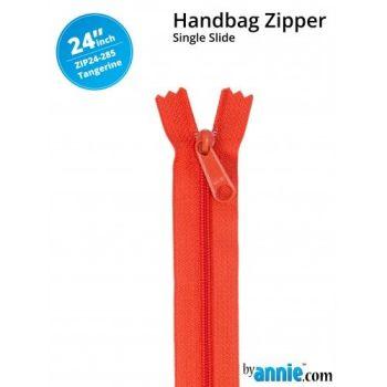 "By Annie 24"" Handbag Zipper Single Slide Tangerine Zip"