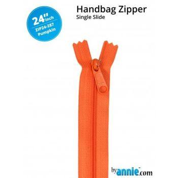 "By Annie 24"" Handbag Zipper Single Slide Pumpkin Zip"