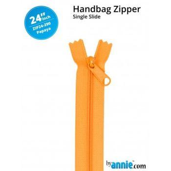 "By Annie 24"" Handbag Zipper Single Slide Papaya Zip"