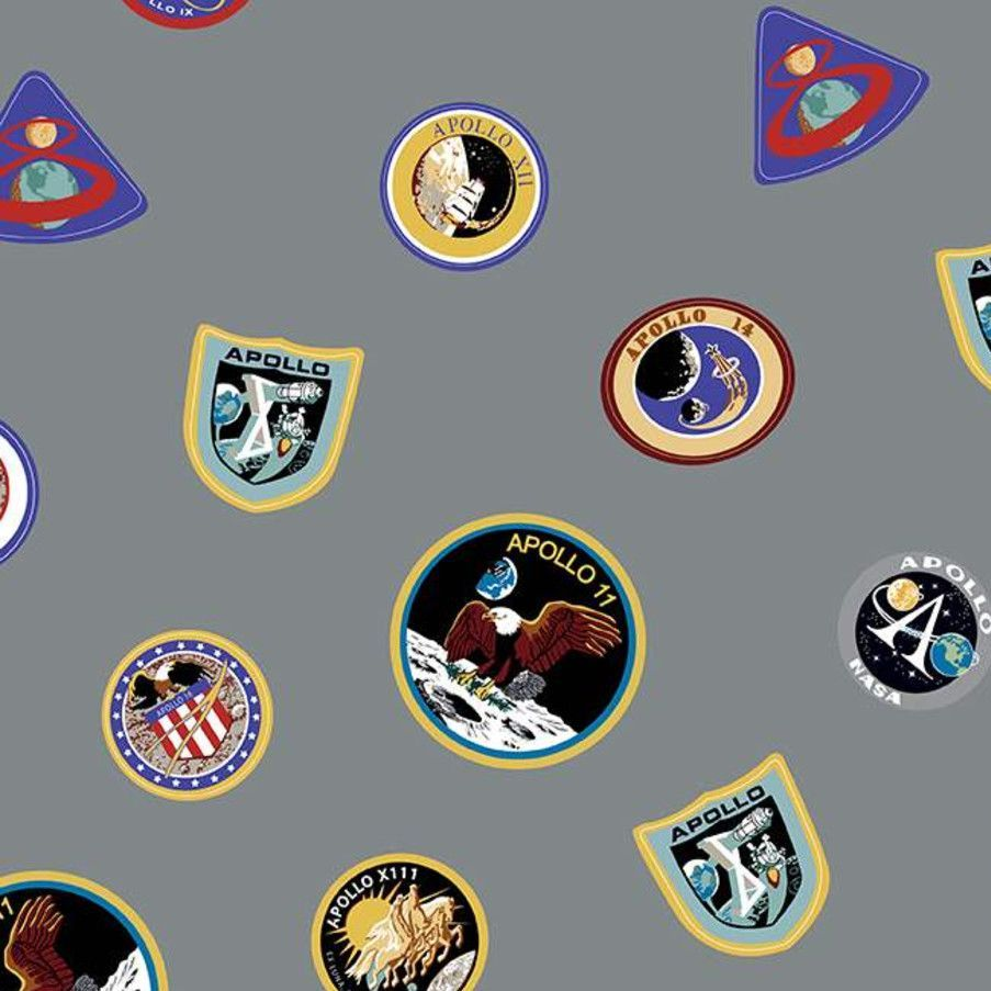 NASA Apollo 11 The Eagle Has Landed Gray Mission Patches Space Shuttle Apol