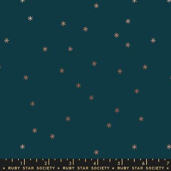 Rise Spark Peacock Metallic Star Ruby Star Society Melody Miller Cotton Fabric
