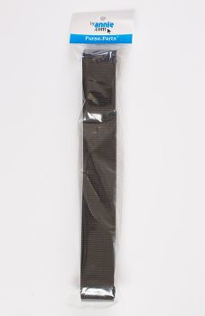 By Annie Strapping 1.5 Inch Wide Black - Bag Handles and Straps Webbing Black Polypropylene Polypro - 6 Yards