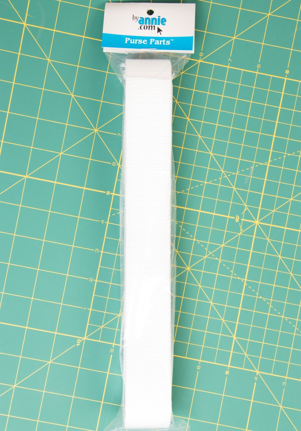 By Annie Strapping 1.5 Inch Wide White - Bag Handles and Straps Webbing Whi
