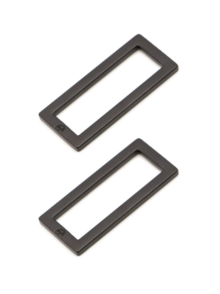 By Annie 1.5in Flat Rectangle Ring Black - 2 Pack